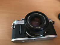 Canon AE-1 SLR 35mm Film Camera with 50mm f1.8 Lens