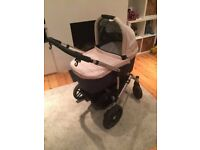 Uppababy Vista Pram Buggy Travel System with carrycot and raincover