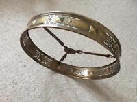 Vintage 1930s Gothic Brass Circular Ring Light Chandelier Fitting Restoration