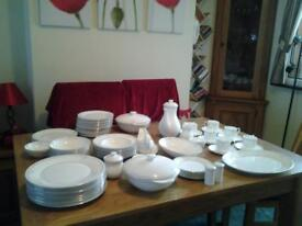Royal Doulton Carnation bone china, dinner, serving and coffee set 83 items.
