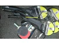 Badminton rackets and table tennis set