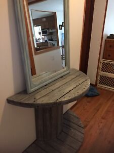 NEEDS TO GO ASAP!! Refinished mirror and spool table