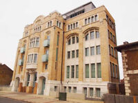 Two double bedroom flat in Grade II listed building with private gated underground parking