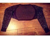 Ladies Bolero Sequinned Cardigan - Size 14