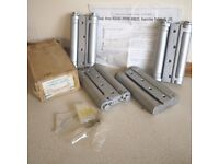 """TWO Pair of Double Action Spring Hinges Silver (F) Laquered For Swing Doors 6"""" (F) BNIB"""