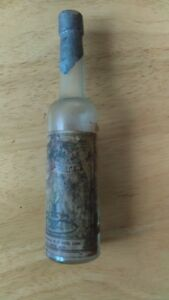Antique Florida Water Bottle with Paper Label