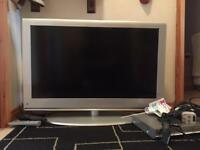 "37"" TV M&S Ful HD. LCD 1080p with DVD player and cables."
