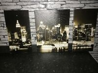 New York 3 piece canvas