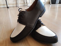 Brouge Black and White Shoes