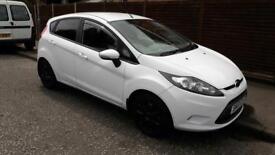 White Ford Fiesta