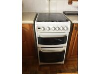 Cannon White 50cm double oven gas cooker