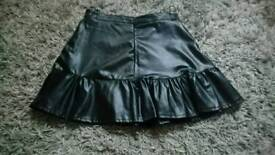 Size small black skirt