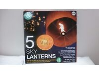 box of 5 sky lanterns