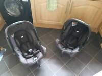 Joie Car Seat And Isofix Base x2