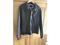Ted baker real leather jacket