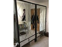 Bevelled mirror double wardrobe ( 2 Available)