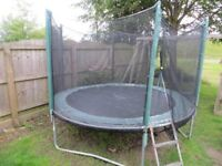 8ft Trampoline with side netting and ladder