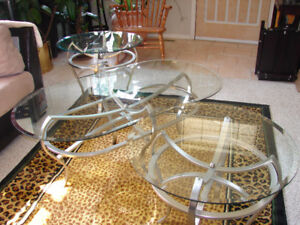 3 Piece Tempered Gl Coffee Tables
