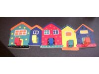 Colourful Children's Wooden House Coat Hook
