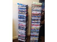 96 DVD's and 9 Series.