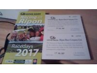 2 x day badges for ripon racecourse
