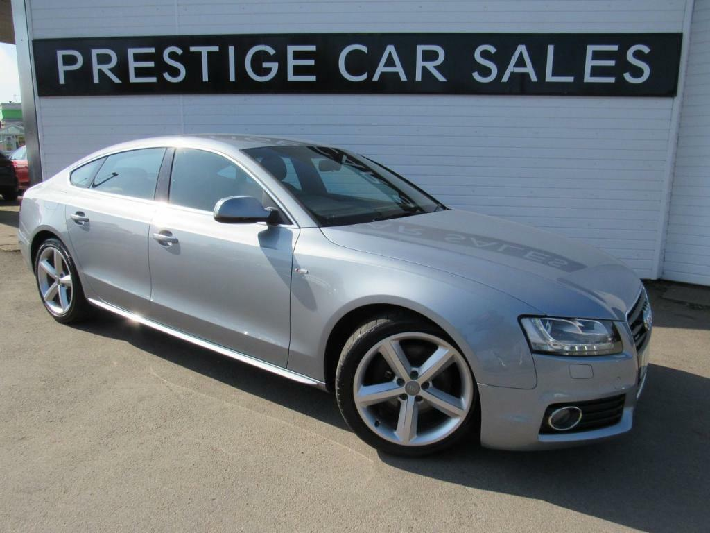 audi a5 3 0 sportback tdi quattro s line 5d auto 240 bhp silver 2010 in leicester forest. Black Bedroom Furniture Sets. Home Design Ideas