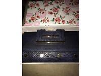 Navy Bessie purse