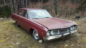 1968 Dodge Polara 4 dr. Motor blown Frame solid $1,250. OBO