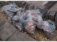 14 Bags Building Rubble, Ideal For Hardcore, Free To Pick Up