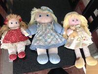 Three rag dolls