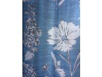 NEXT cornflour country floral curtains and double duvet set