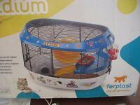 Ferplast hamster 'Stadium' & cat flap unused