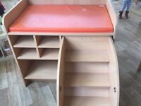 Wesco baby changing unit with steps, ideal for nursery/preschool use. Used but good condition