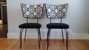 2 chaises vintages