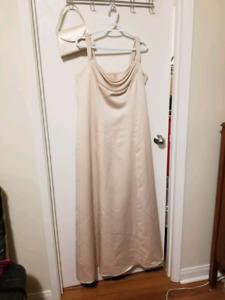 Simple cream coloured dress