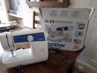 Brother JS-23 Sewing Machine in White- still in box- unused present
