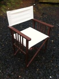 Foldaway directors chair in great condition, or upmarket glamping chair