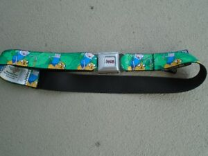 Adventure Time Seatbelt Belt Buckle-Down made in U.S.A. NEUF
