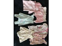 Up to 1 month baby girls clothes (10lb)