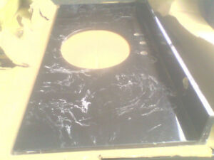 Black Marble Bathroom Vanity Top