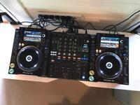 Pioneer CDJ 2000 NXS2 Pair + DJM 900 NXS2 Mixer - New / Boxed Decksavers