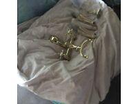 Gold colour bath mixer tap