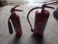 1 x 6 litre water spray and 1 x 2kg carbon dioxide fire extinguishers (unused)