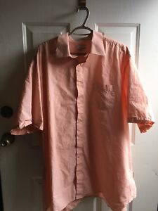 Big Men's Shirts in Peach, Grey and Coral