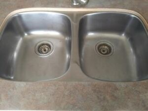 Kitchen Laundry Room Under Mount Sink Double Stainless Steel