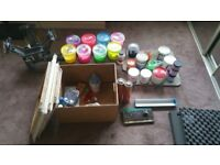 4 colour screen printing carousel with ink exposion unit photo emulsion etc