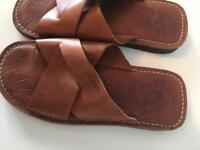 Ted Baker flip flops leather size 8