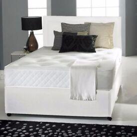 """DIVAN BED SET + 10"""" MEMORY FOAM MATTRESS + PLAIN HEADBOARD (OPTIONAL COLOURS)"""