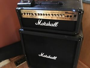 Marshall MG100HDFX head and 4x12 slant cabinet (half stack)