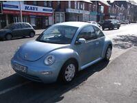 05 VW BEETLE 1.6 PETROL FULL MOT CLEAN CAR ONLY £1395